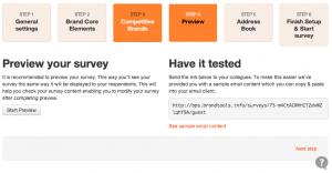 Preview your survey
